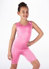 Mono de Baile Corto de Ciclista Nina Alegra Rosa frontal #3. [Rosa]
