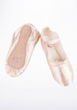 Move Zapatilla ballet de raso con suela entera Rosa #2. [Rosa]