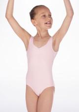 Maillot Ballet Nina sin Mangas Debutant Repetto Rosa #3. [Rosa]