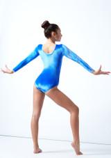Tappers & Pointers GYM31 Gymnastics Leotard Blue Back-1 [Blue]