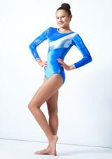 Tappers & Pointers GYM31 Gymnastics Leotard Blue Front-1 [Blue]