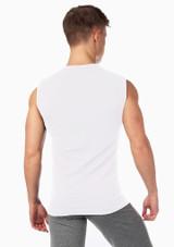Camiseta hombre sin mangas ni costuras Alvaro de Move Blanco #2. [Blanco]