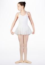 Falda de Ballet Nina Floral So Danca Blanco. [Blanco]