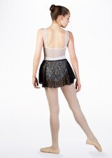 Falda de Ballet Nina Floral So Danca Negro #2. [Negro]