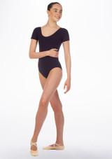 Maillot Ballet Chica Faye Move Dance Azul frontal. [Azul]