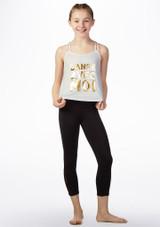 Camiseta 'Danse' sin mangas Bloch Blanco frontal. [Blanco]