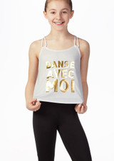 Camiseta 'Danse' sin mangas Bloch Negro frontal. [Negro]