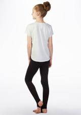 Camiseta nina con logo So Danca Blanco trasera. [Blanco]
