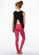 Camiseta Ballerina con capucha So Danca Negro trasera. [Negro]