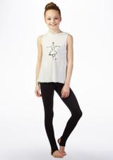 Camiseta Ballerina con capucha So Danca Blanco frontal. [Blanco]