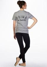 Camiseta de danza Prima Kelham Gris trasera. [Gris]