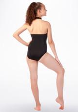 Maillot Ballet Nina con Cuello Alto Alegra Fuse Negro-Oro trasera. [Negro-Oro]