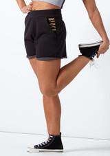 Pantalones cortos de cintura alta Bloch Negro frontal. [Negro]