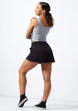 Pantalones cortos de cintura alta Bloch Negro trasera. [Negro]