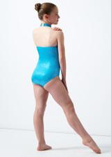 Maillot Ballet Nina Estampado Metalizado Nola Alegra Azul trasera. [Azul]