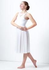 Vestido de baile lirico con aperturas para joven Titania Move Dance Blanco trasera. [Blanco]