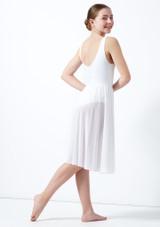 Vestido de baile lirico con aperturas para joven Titania Move Dance Blanco frontal. [Blanco]