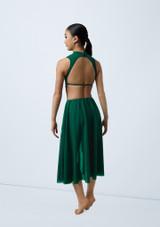 Weissman Laser Cut Dress Verde trasera. [Verde]