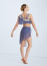 Weissman Asymmetrical Bra Top and Skirt Azul trasera. [Azul]