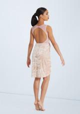 Weissman Velvet Wrap Dress Rosa trasera. [Rosa]