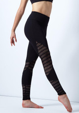Mallas macrame So Danca Negro frontal. [Negro]