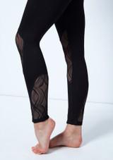 Legging de malla Arlequin So Danca Negro frontal #2. [Negro]