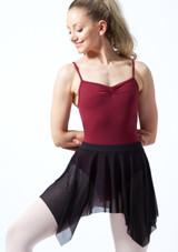 Falda de Ballet de Gasa Fayre Bloch Negro frontal. [Negro]