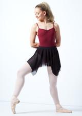 Falda de Ballet de Gasa Fayre Bloch Negro frontal #2. [Negro]