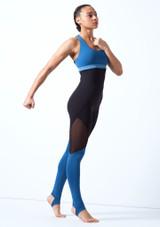 Top sin mangas con escote redondeado Bloch Azul frontal. [Azul]