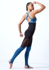 Top sin mangas con escote redondeado Bloch Azul trasera. [Azul]