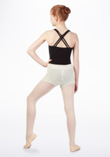 Pantalon corto punto relieve Bloch* Blanco #2. [Blanco]