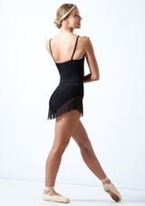 Falda de malla con cinturilla Ballet Rosa Negro  Detrás-1 [Negro ]
