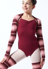 Bolero de punto a rayas Sweet para adolescente Move Dance Rosa  Delante-1T [Rosa ]