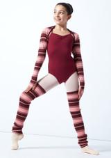 Bolero de punto a rayas Sweet para adolescente Move Dance Rosa  Delante-1 [Rosa ]
