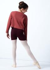 Suéter de danza corto de punto acanalado Blush para adolescente Move Dance