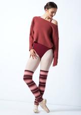 Suéter de danza corto de punto acanalado Charm Move Dance