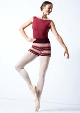 Pantalones cortos de danza de punto enrollables Blossom Move Dance Higo  Delante-1 [Higo ]