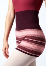 Pantalones cortos de danza de punto enrollables Blossom Move Dance Higo  Detalle delantero-2 [Higo ]