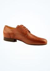 Zapatos Oxford de salon Werner Kern Hombre Marrón frontal. [Marrón]