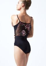 Maillot camisola floral Petal Move Dance Negro  Delante-1T [Negro ]