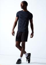 Camiseta de danza Rhythm para hombre Move Dance Azul oscuro Detrás-1 [Azul oscuro]