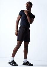 Pantalones cortos Beat Dance para hombre Move Dance Negro  Delante-2 [Negro ]