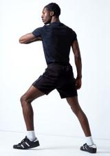 Pantalones cortos Beat Dance para hombre Move Dance Negro  Detrás-1 [Negro ]