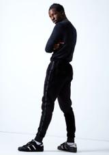 Joggers Urban Dance para hombre Move Dance Negro  Detrás-1 [Negro ]