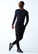 Joggers Urban Dance para hombre Move Dance Negro  Delante-1 [Negro ]