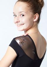 Maillot con escote corazón floral Margot para adolescente Move Dance Negro  Detalle trasero-1 [Negro ]