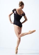 Maillot con escote corazón floral Margot Move Dance Negro  Detrás-1 [Negro ]
