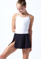 Falda circular para joven Ballet Rosa Teen Negro  Delante-1T [Negro ]