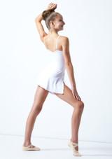Falda circular para joven Ballet Rosa Teen Blanco  Detrás-1 [Blanco ]