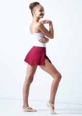 Falda circular para joven Ballet Rosa Teen Rojo  Detrás-1 [Rojo ]